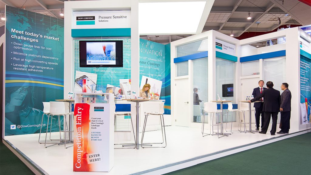 <h2>Dow Corning</h2> <br> <p>This booth of 50 sqm was commissioned for their participation in Label Expo.</p>